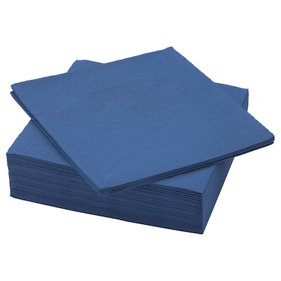 FANTASTISK Pappersservett, mörkblå, 40x40 cm