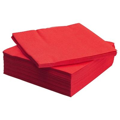 FANTASTISK Pappersservett, röd, 40x40 cm