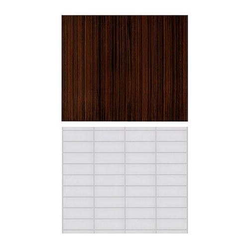 FASTBO Väggplatta vit/brun Bredd: 60 cm Höjd: 50 cm