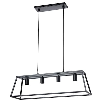 FELSISK Taklampa med 4 lampor, svart