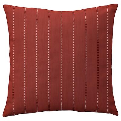 FESTHOLMEN Kuddfodral, inom-/utomhus, röd/ljust gråbeige, 50x50 cm
