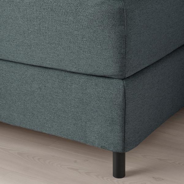 FINNSNES Kontinentalsäng, Hövåg fast/medium fast/Tuddal grå, 160x200 cm