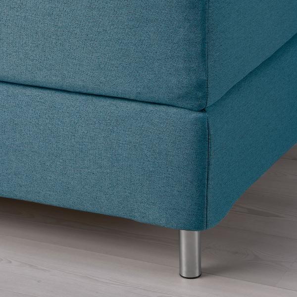 FINNSNES Kontinentalsäng, Hövåg fast/Tustna blå, 160x200 cm