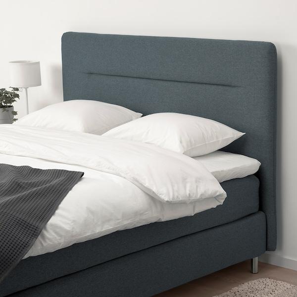 FINNSNES Kontinentalsäng, Hövåg medium fast/Hornnes grå, 160x200 cm
