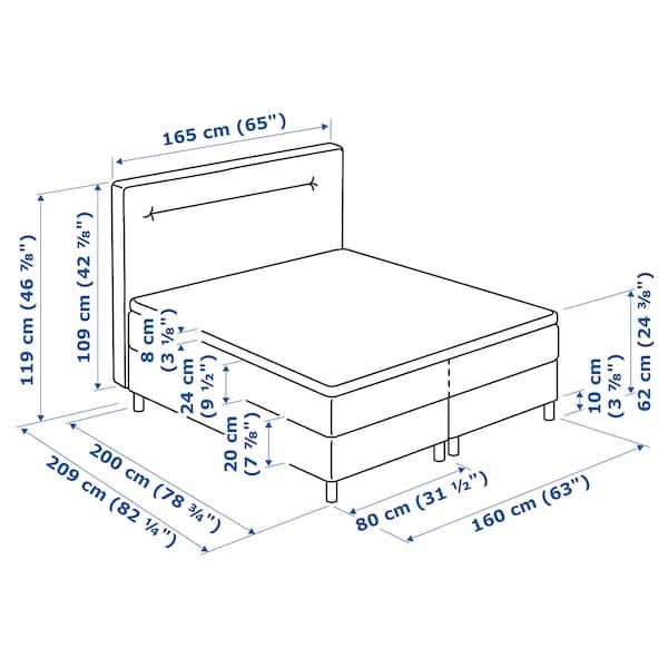 FINNSNES Kontinentalsäng, Hövåg medium fast/Tustna blå, 160x200 cm