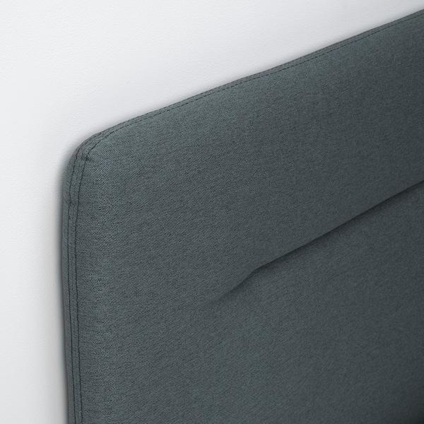 FINNSNES Kontinentalsäng, Hyllestad fast/Tustna grå, 160x200 cm