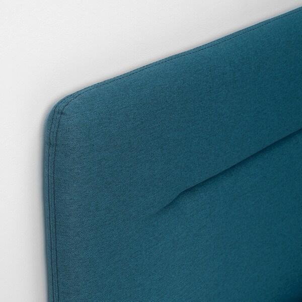 FINNSNES Kontinentalsäng, Hyllestad medium fast/Tussöy blå, 140x200 cm