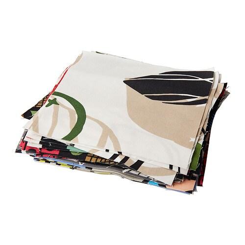 FINURLIG Stuvbit IKEA Stuvbitar i blandade färger och mönster passar perfekt om du vill sy täcken, kuddar eller väskor med lapptäcksteknik.