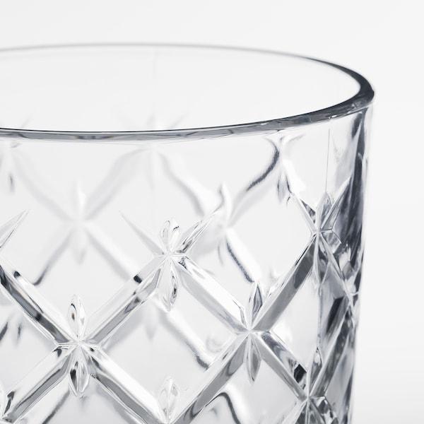 FLIMRA glas klarglas/mönstrad 14 cm 42 cl