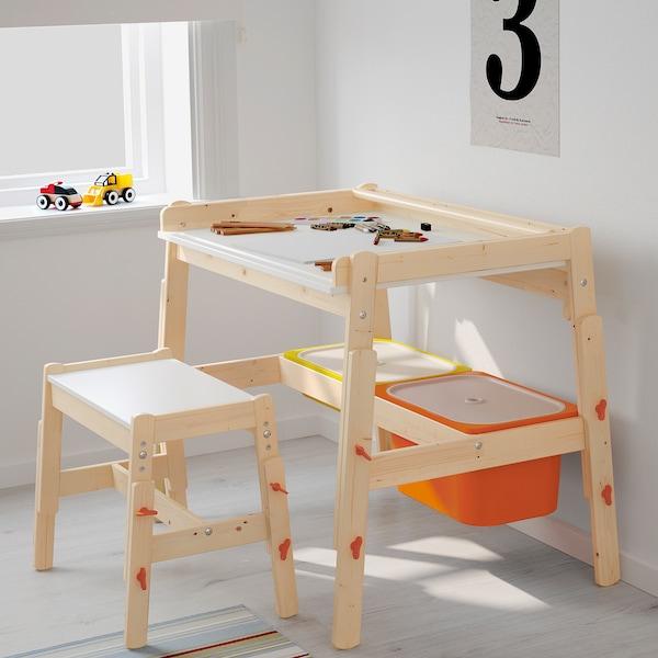 FLISAT Barnskrivbord, ställbar