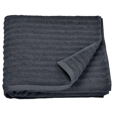 FLODALEN Badhandduk, mörkgrå, 70x140 cm