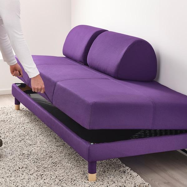 FLOTTEBO Bäddsoffa med sidobord, Vissle mörkgrå, 90 cm IKEA