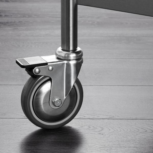 FLYTTA Rullbord, rostfritt stål, 98x57 cm