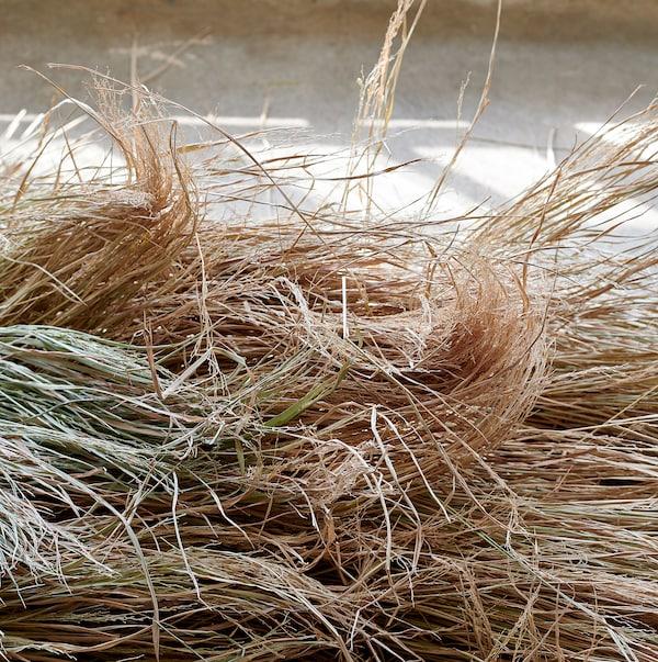 FÖRÄNDRING Presentpåse set om 3, handgjord/risstrå natur, 33x10 cm