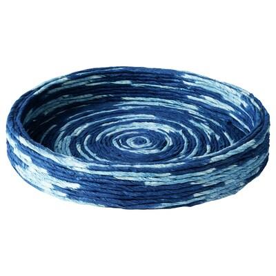FÖRÄNDRING Skål, handgjord/risstrå blå, 25 cm