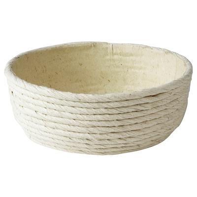 FÖRÄNDRING Skål, handgjord/risstrå naturfärgad, 14 cm