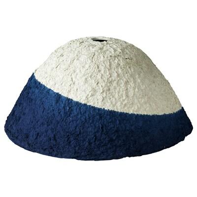 FÖRÄNDRING Taklampskärm, handgjord/risstrå blå/naturfärgad, 42 cm