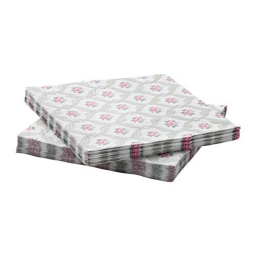 FÖRVÄNTAD Pappersservett IKEA Servetten har bra uppsugningsförmåga då den har tre pappersskikt.