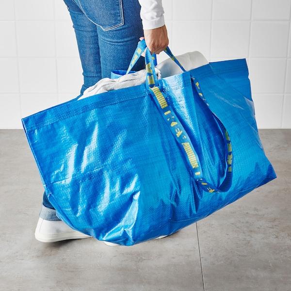FRAKTA Kasse, stor, blå, 71 l