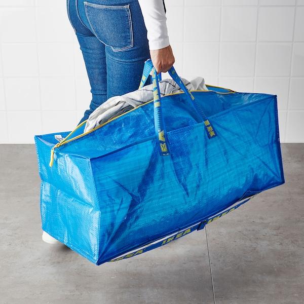 FRAKTA Trunk för kärra, blå, 76 l