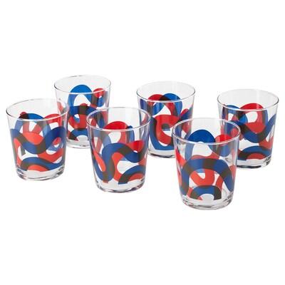 FRAMKALLA glas mönstrad 9 cm 30 cl 6 styck