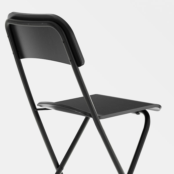 FRANKLIN Barstol, hopfällbar, svart/svart, 63 cm