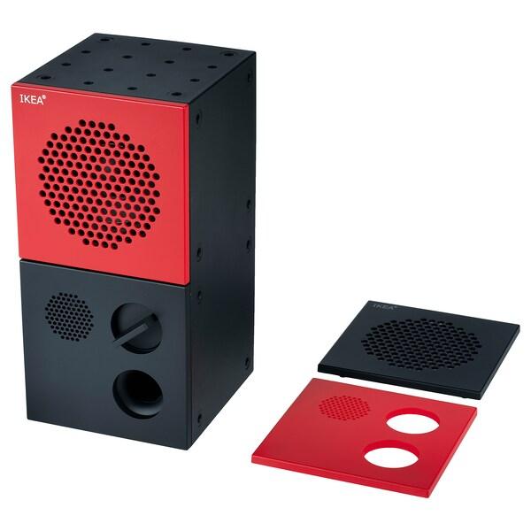 FREKVENS högtalare svart/röd 10 cm 10 cm 20 cm