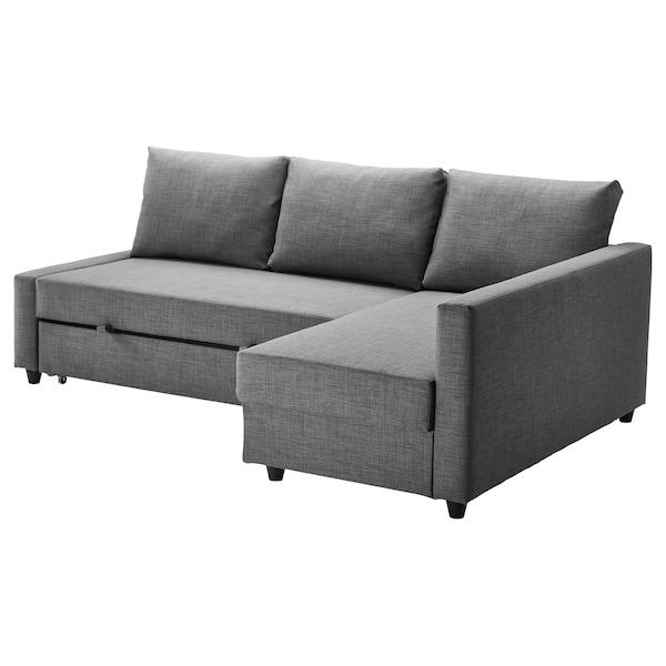FRIHETEN Hörnbäddsoffa med förvaring, Skiftebo mörkgrå IKEA