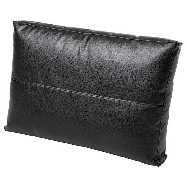 FRIHETEN Kudde, Bomstad svart, 67x47 cm IKEA
