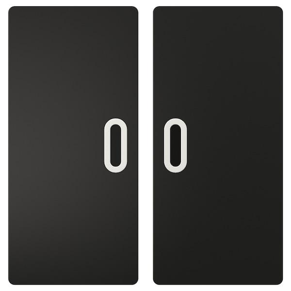 FRITIDS dörr med griffelyta antracit 60.0 cm 64.0 cm 2 styck