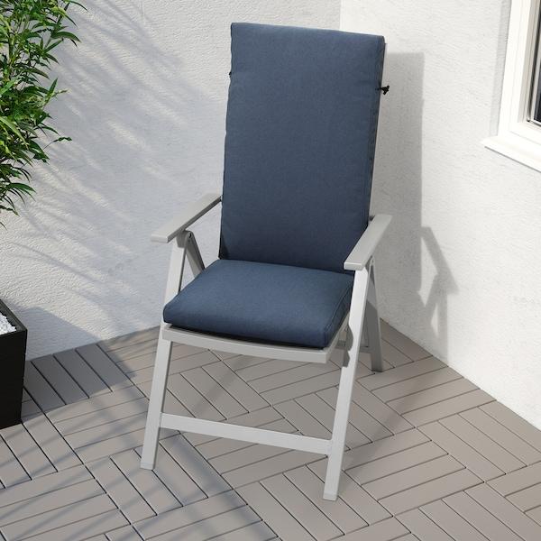 FRÖSÖN/DUVHOLMEN Sitt-/ryggdyna, utomhus, blå, 116x45 cm