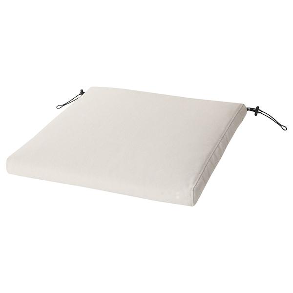 FRÖSÖN/DUVHOLMEN Stolsdyna, utomhus, beige, 50x50 cm