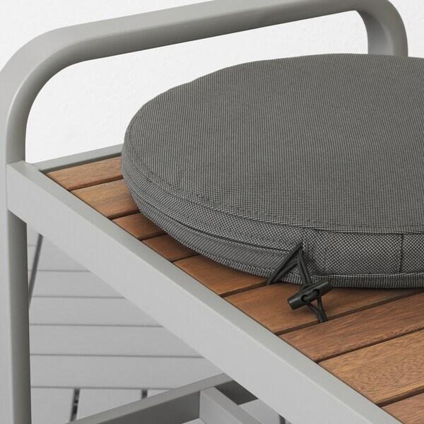 FRÖSÖN/DUVHOLMEN Stolsdyna, utomhus, mörkgrå, 35 cm