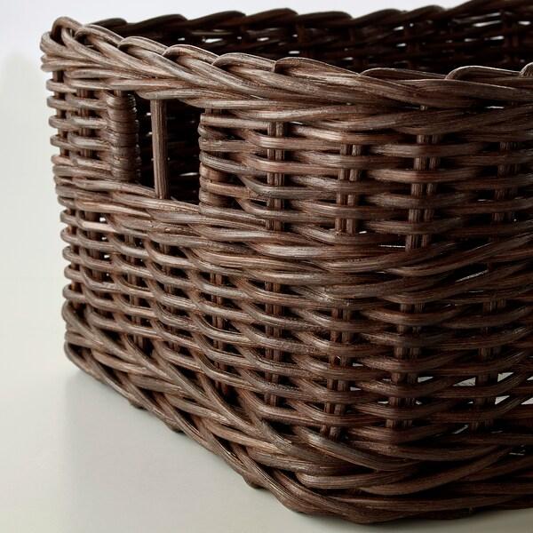 GABBIG Korg, mörkbrun, 25x29x15 cm
