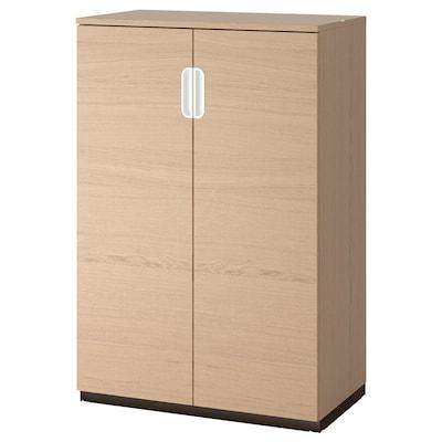 GALANT Skåp med dörrar, vitlaserad ekfaner, 80x120 cm