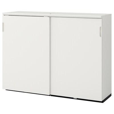 GALANT Skåp med skjutdörrar, vit, 160x120 cm
