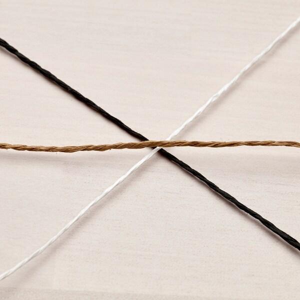 GIVANDE Band, svart/beige/vit, 15 m