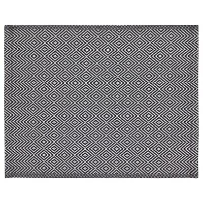 GODDAG Tablett, svart/vit, 35x45 cm