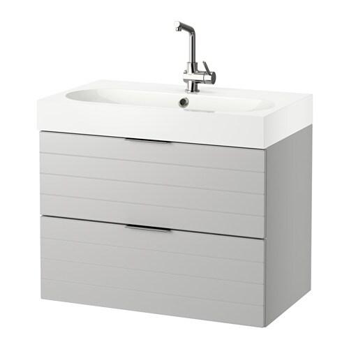 GODMORGON BRåVIKEN Kommod med 2 lådor ljusgrå vit IKEA
