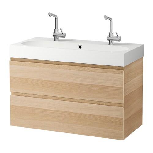 GODMORGON BRåVIKEN Kommod med 2 lådor vitlaserad ekeffekt IKEA
