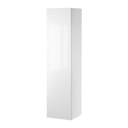 GODMORGON Högskåp, högglans vit Bredd: 40 cm Djup: 37 cm Höjd: 160 cm
