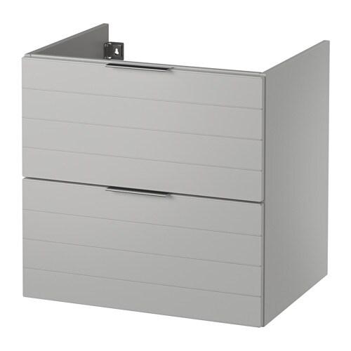 GODMORGON Kommod med 2 lådor ljusgrå, 60x47x58 cm IKEA