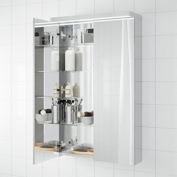 GODMORGON Spegelskåp med 2 dörrar, 60x14x96 cm