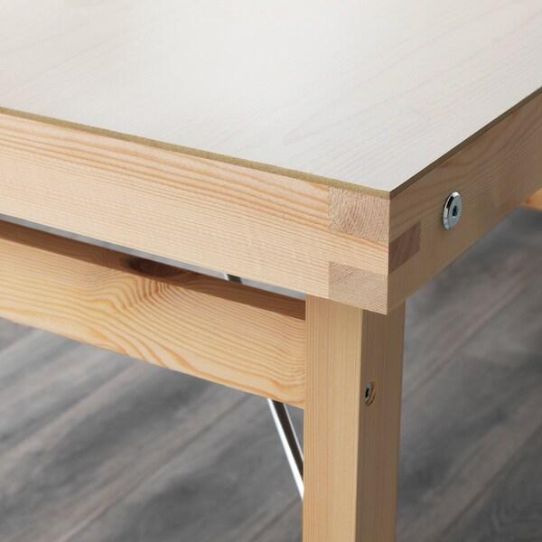 GÖRAN Bord, vit/furu, 150x73 cm
