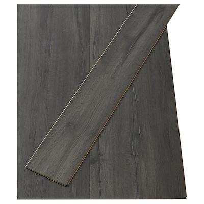 GOLV Laminatgolv, svart sandstensmönstrad, 2.00 m²