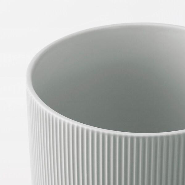 GRADVIS Kruka, grå, 15 cm