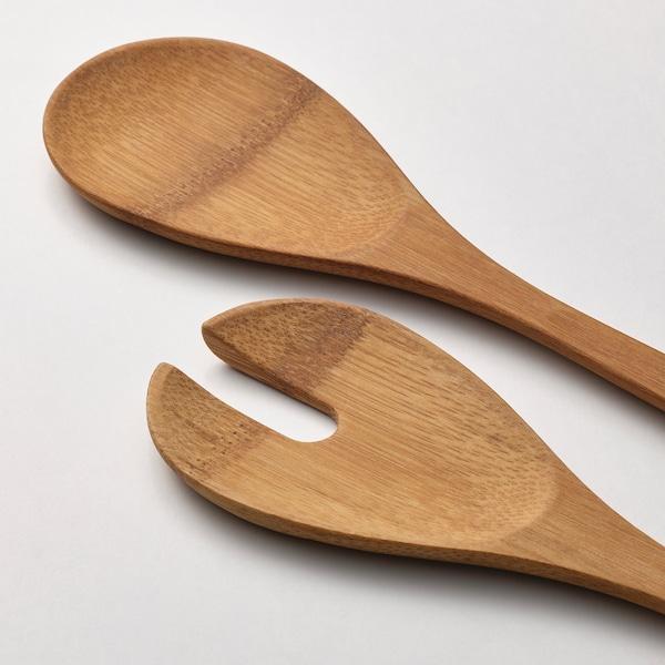 GRÖNSAKER Salladsbestick 2 delar, bambu