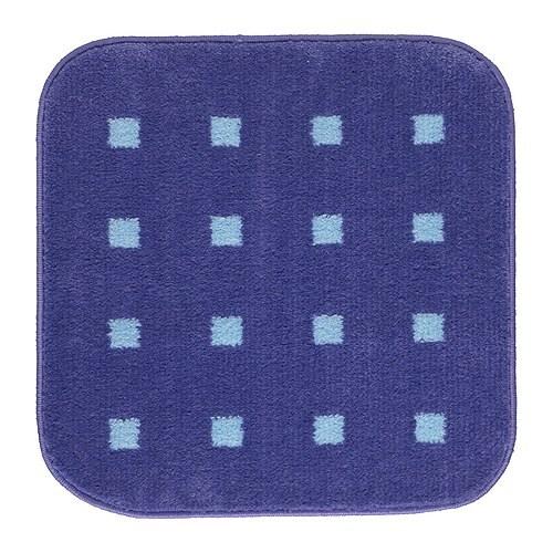 GUBBSKÄR Badrumsmatta, blå, ljusblå Längd: 57 cm Bredd: 57 cm