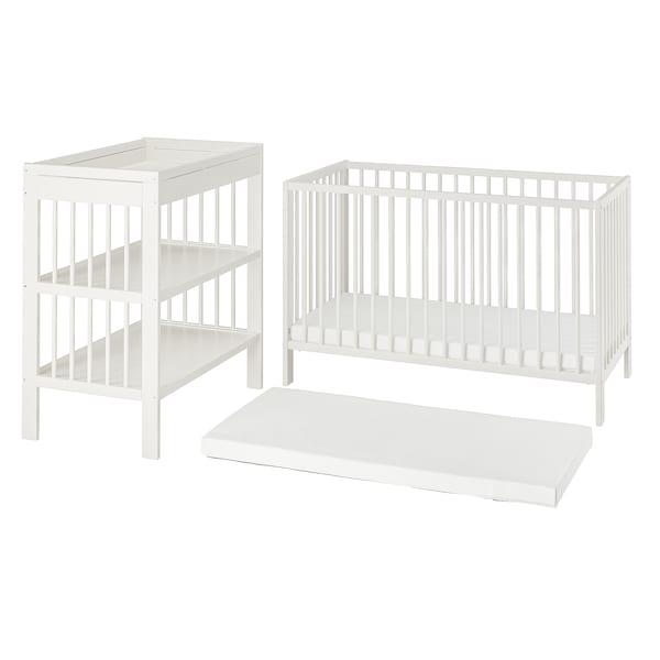GULLIVER Babymöbler, 3 delar, vit