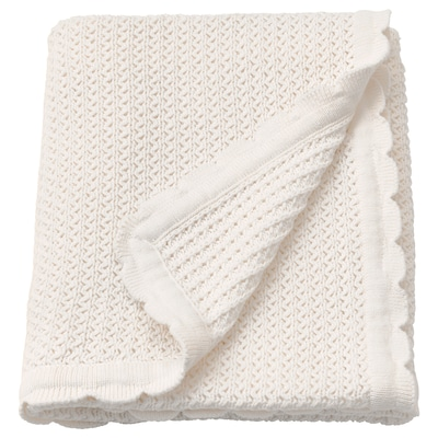 GULSPARV Babyfilt, vit, 70x90 cm